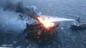 پایان آتش سوزی مداوم در سکوی نفتی باکو پس از دو ماه