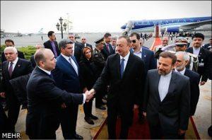 الهام علی اف رئیس جمهور باکو صبح امروز وارد تهران شد