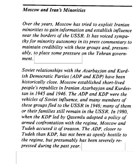 استفاده شوروی از احزاب قومی ایران پس از انقلاب اسلامی؛بر اساس اسناد سیا