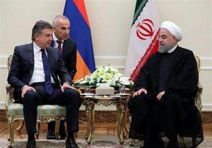 در دیدار روحانی و نخست وزیر ارمنستان: جنگ و تشدید اختلافات منطقهای به نفع هیچ کشوری نیست