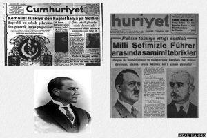 هیتلر: من و موسولینی طلبه آتاترک هستیم