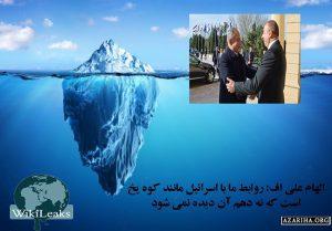 الهام علی اف: رابطه اسرائیل و باکو مانند «کوه یخ» است