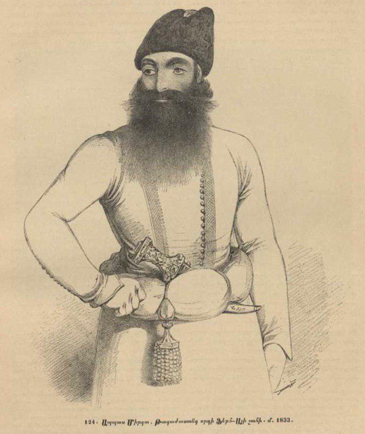 تصویری از «عباس میرزا» که در کتاب گیوند الیشان تاریخ نگار ارمنی آمده است