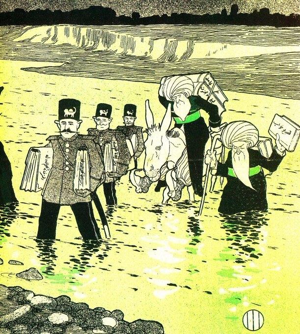 کاریکاتور ملانصرالدین و یک دنیا حرف