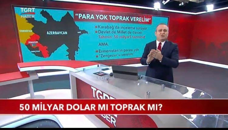 مجری ضدایرانی شبکه TGRT ترکیه این بار مرزهای شمالی کشورمان را هدف قرار داد