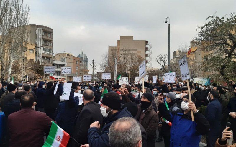 تجمع اعتراضی مردم تبریز در دفاع از کیان ایران و همبستگی ملّی