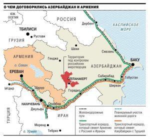 نقشه زمینی توافقات سه جانبه مسکو